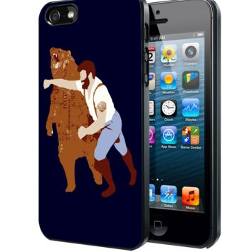 Man Punching Bear Samsung Galaxy S3 S4 S5 S6 S6 Edge (Mini) Note 2 4 , LG G2 G3, HTC One X S M7 M8 M9 ,Sony Experia Z1 Z2 Case