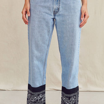 Urban Renewal Recycled Levi's Bandana Patched Jean   Urban Outfitters