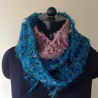 Hand Knit Infinity Scarf