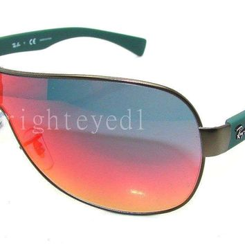Authentic RAY-BAN Matte Gunmetal Shield Sunglasses RB 3471 - 029/6Q *NEW*