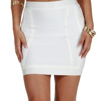 Sale-white Flawless Figure Bandage Skirt
