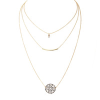 New Beginnings Layered Gold Necklace Set
