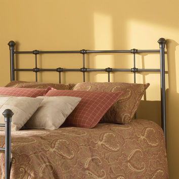 Full Size Metal Headboard with Classic Design in Hammered Brown Finish