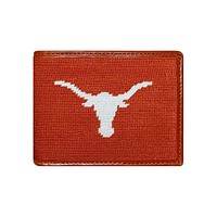Texas Needlepoint Wallet in Burnt Orange by Smathers & Branson