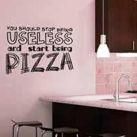 Start Being PIzza - Wall Vinyl - Large