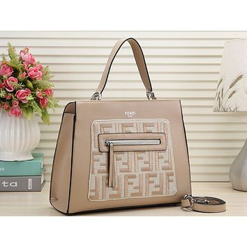 Fendi Printed Shopping Bag Single Shoulder Bag