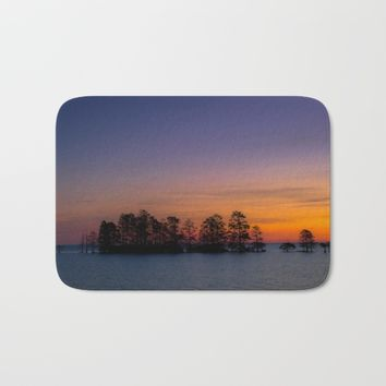 Lake Mattamuskeet Sunrise Bath Mat by Scott Hervieux