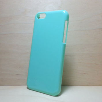 iphone 5c hard plastic case - Mint Green (for decoden phone case)