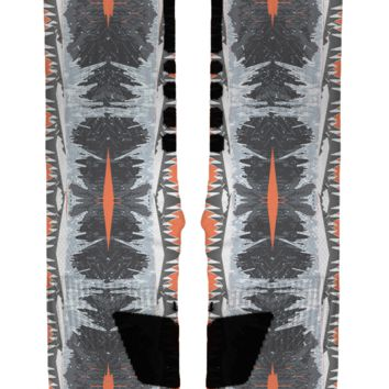 ICY Orange Custom Nike Elites