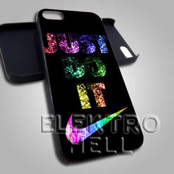 Just Do It Glitter Nike - iPhone 4/4s/5 Case - Samsung Galaxy S3/S4 Case - Black or White