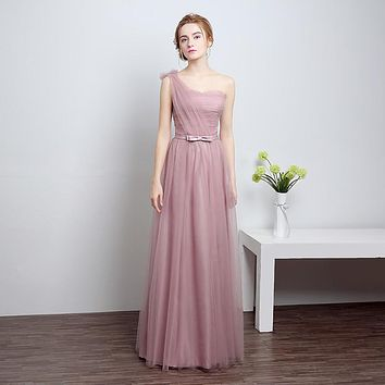 Real Photo 2 Color Prom Dresses 2017 New Arrival Ever Pretty Dresses Sweetheart One Shoulder Elegant Long Prom Dresses