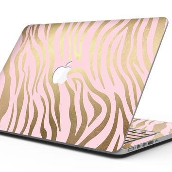 Pink Gold Flaked Animal v5 - MacBook Pro with Retina Display Full-Coverage Skin Kit
