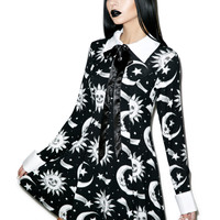 Kill Star Cozmic Death Ribbon Dress Black