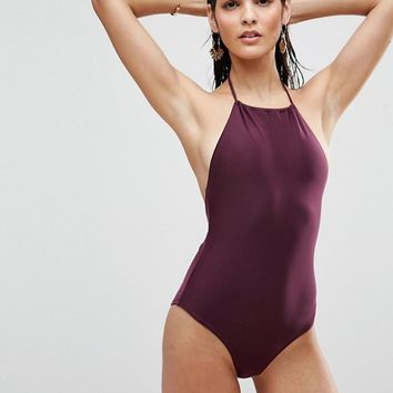 ASOS Halter Swimsuit at asos.com