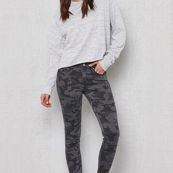 PacSun Black Camo Low Rise Skinny Jeans at PacSun.com