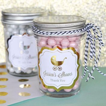 Personalized Metallic Foil Frame Labels - Baby