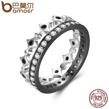 925 Sterling Silver Stackable Ring Freedom Light Clear CZ Geometric Rings For Women Wedding Engagement Jewelry SCR056