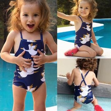 Summer Toddler Kids Baby Girls Tankini Bikini Swimwear Swimsuit Bikini Beachwear