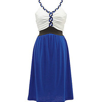 Soprano 7-16  Braided Knit Colorblock Dress | Dillards.com