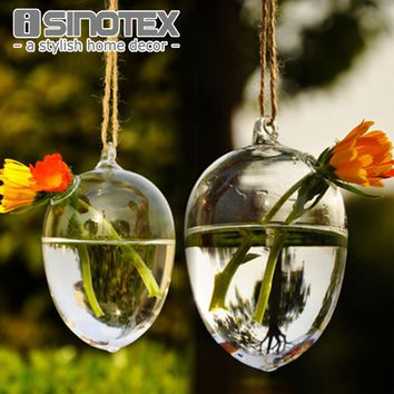 Clear Round Hanging Glass Vase