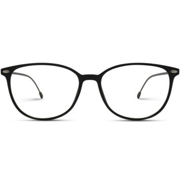 Thin Frame Classic Oval Clear Eyeglasses