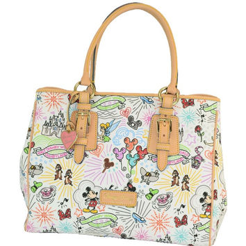 Disney Parks Dooney & Bourke Sketch arge Tote Bag New with Tag