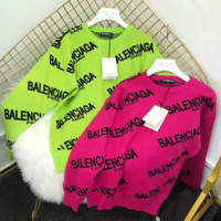 Balenciaga Fluorescent green Round Neck Sweater Pullover