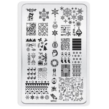 Mchoice Christmas Pattern DIY Nail Art Image Stamp Stamping Plates Manicure Template