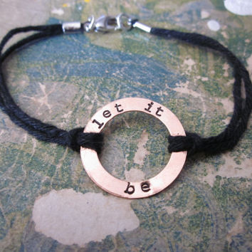 The Orville Bracelet - Custom Copper Washer Bracelet