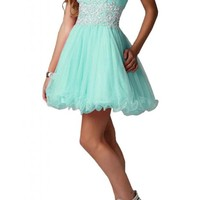 Angel Bride Mini A-Line Sweetheart Tulle Party Homecoming Dresses for Juniors- US Size 8