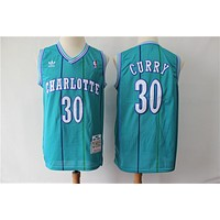 Men's Charlotte Hornets Dell Curry Mitchell & Ness Teal Hardwood Classics Swingman Jersey - Best Deal Online
