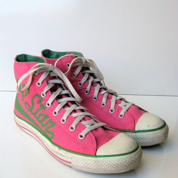 Rhinestone High Top Converse with Ribbon from ConverseCustomized 3b33395b7