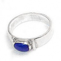 Medium Small Stone Oval Sterling Silver Ring