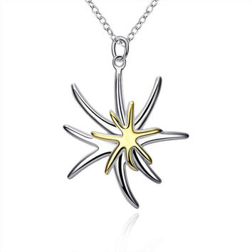 Free Shipping 2015 silver pendant Separations Starfish perfume women floating charms CP026