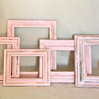 Set of 5 Pink Shabby Chic Frames