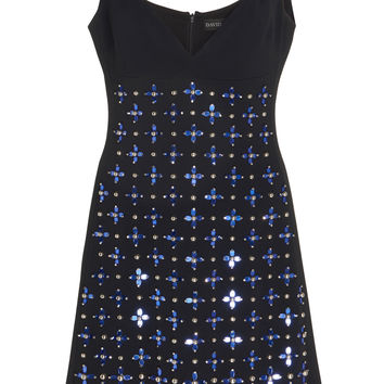 Beaded Crepe Mini Dress | Moda Operandi