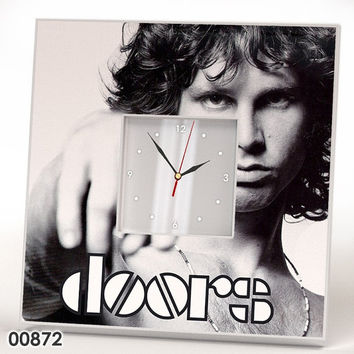 JIM MORRISON The DOORS Wall Hanging Clock Mirror Wood Frame Print Poster Rock Gift Retro Vintage Music Fan Art Home Decor Room Design Watch