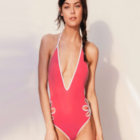 Hollow One Piece Swimsuit Swimwear