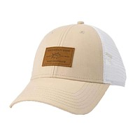 Leather Patch Oxford Trucker Hat by Southern Tide