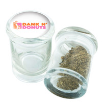 Stash Jar - Glass Pop Top - Dank In Donuts Design - Stay Fresh Herbs 1/6 oz.