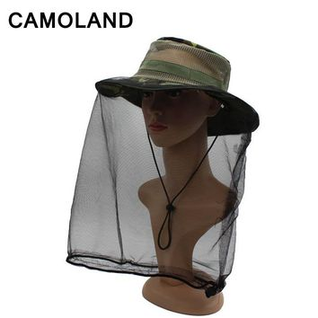 Summer Breathable Mesh Camo Anti-Mosquito Bucket Hat Men Women Military Army Fishing Cap Protection from Insect Bug Bee Gnats
