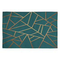 Elisabeth Fredriksson Copper and Teal Woven Rug