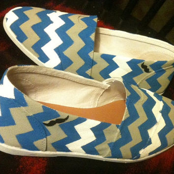 Painted Chevron Bobs/Toms- BOBS are Included in PRICE
