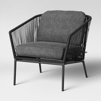 Standish 2pc Club Chair - Black with Gray Cushions - Project 62™