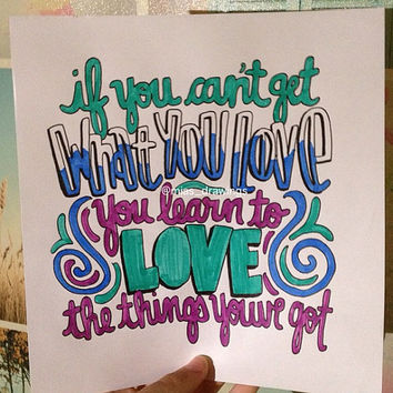 Life's for the Living Passenger lyric art by Miasdrawings on Etsy