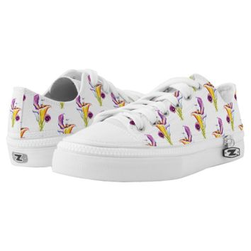 Calla Lilly- bohemian pattern painting Low-Top Sneakers