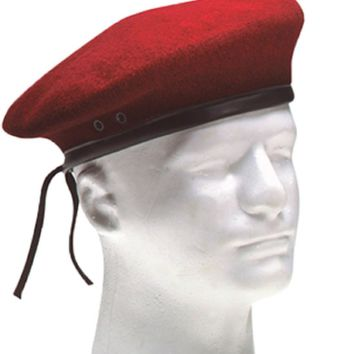 G.I. Style Military Red Wool Beret 4901 Rothco