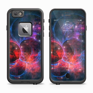 Blue and Red Galactic Geometry Skin for the Apple iPhone LifeProof Fre Case