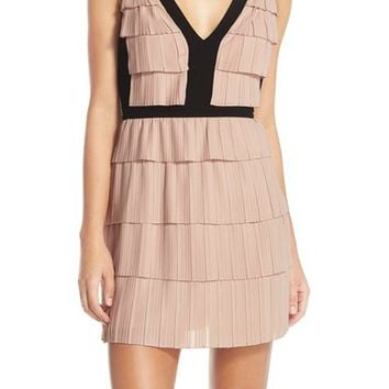 BCBGMAXAZRIA 'Hartley' Tiered Woven Fit & Flare Dress | Nordstrom