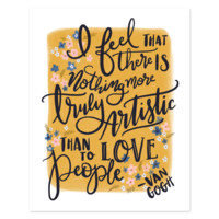 Van Gogh Quote - Print & Canvas